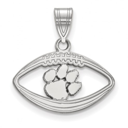 Clemson Tigers Sterling Silver Football Pendant