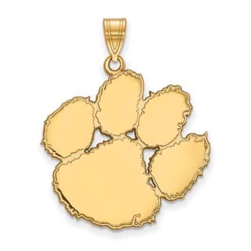 Clemson Tigers Sterling Silver Gold Plated Extra Large Pendant