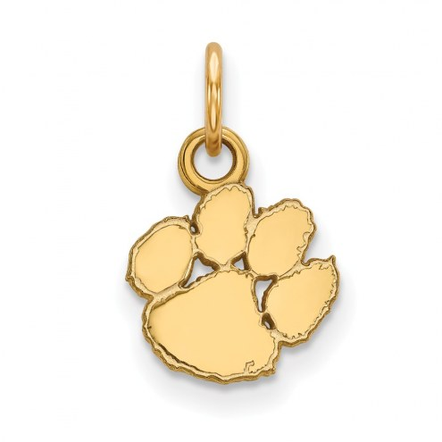 Clemson Tigers Sterling Silver Gold Plated Extra Small Pendant