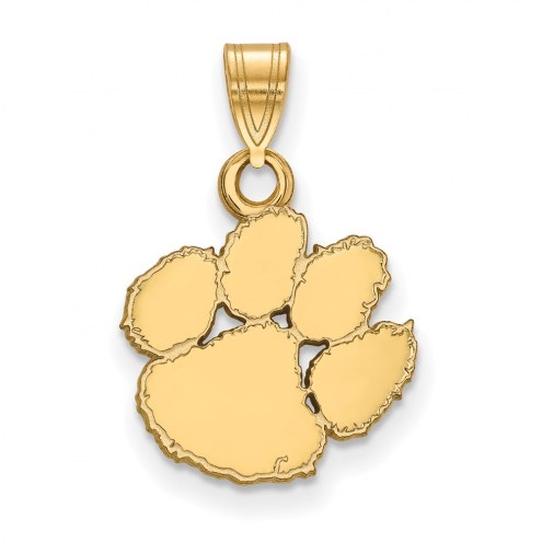 Clemson Tigers Sterling Silver Gold Plated Small Pendant