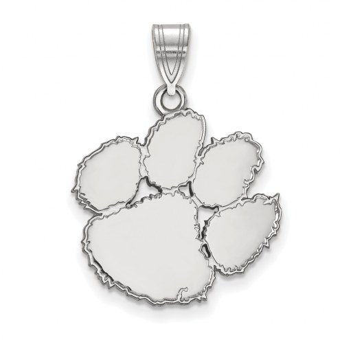 Clemson Tigers Sterling Silver Large Pendant