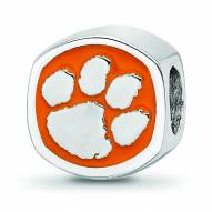 Clemson Tigers Sterling Silver Logo Bead