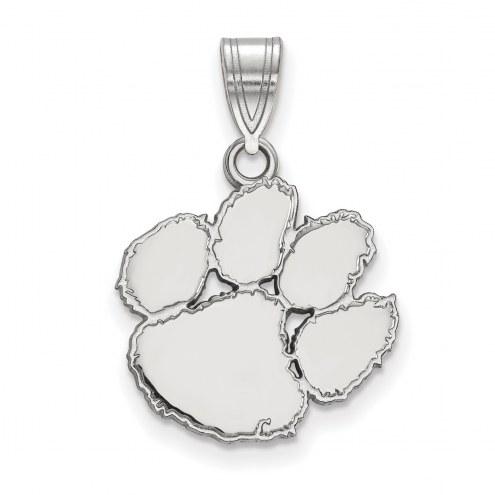 Clemson Tigers Sterling Silver Medium Pendant