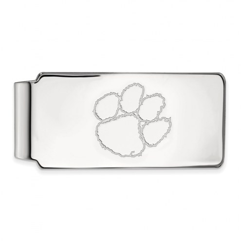 Clemson Tigers Sterling Silver Money Clip