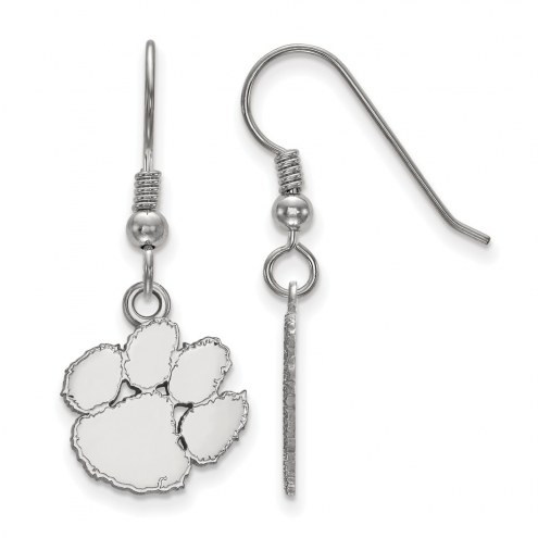 Clemson Tigers Sterling Silver Small Dangle Earrings