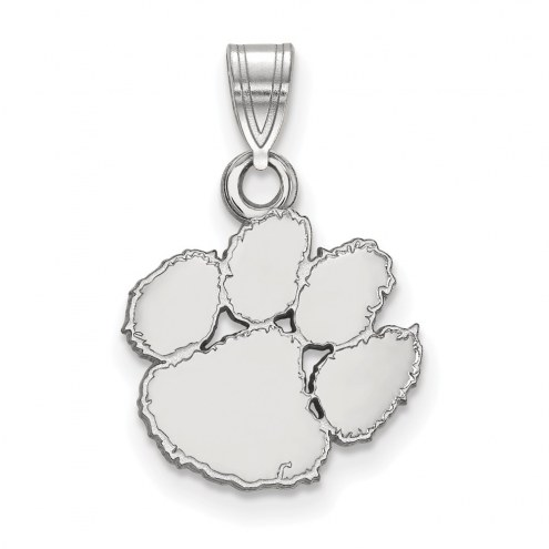 Clemson Tigers Sterling Silver Small Pendant
