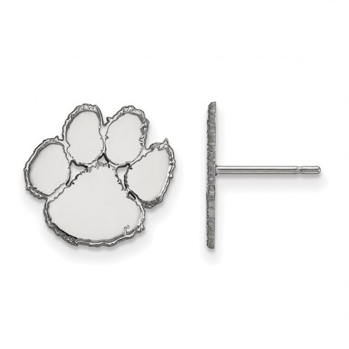 Clemson Tigers Sterling Silver Small Post Earrings