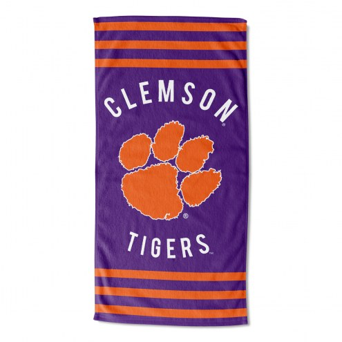 Clemson Tigers Stripes Beach Towel
