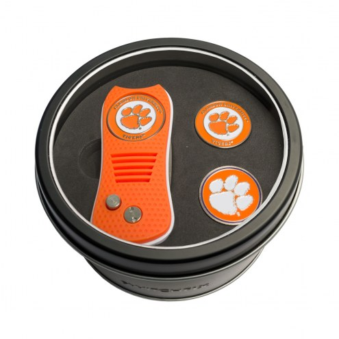 Clemson Tigers Switchfix Golf Divot Tool & Ball Markers