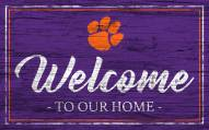 Clemson Tigers Team Color Welcome Sign