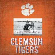 """Clemson Tigers Team Name 10"""" x 10"""" Picture Frame"""