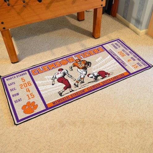 Clemson Tigers Ticket Runner Rug