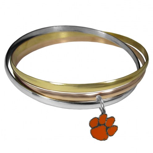 Clemson Tigers Tri-color Bangle Bracelet