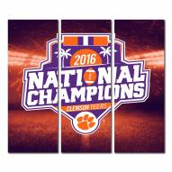 Clemson Tigers Triptych National Champions Canvas Wall Art