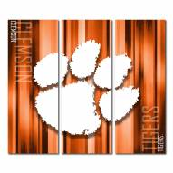Clemson Tigers Triptych Rush Canvas Wall Art