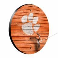 Clemson Tigers Weathered Design Hook & Ring Game