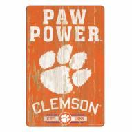 Clemson Tigers Slogan Wood Sign
