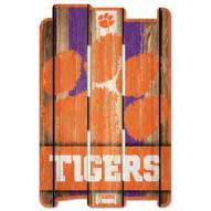 Clemson Tigers Wood Fence Sign