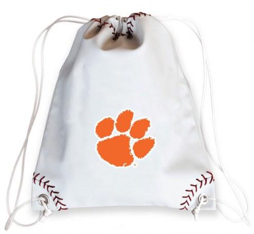 Clemson Tigers Baseball Drawstring Bag