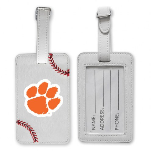 Clemson Tigers Baseball Luggage Tag