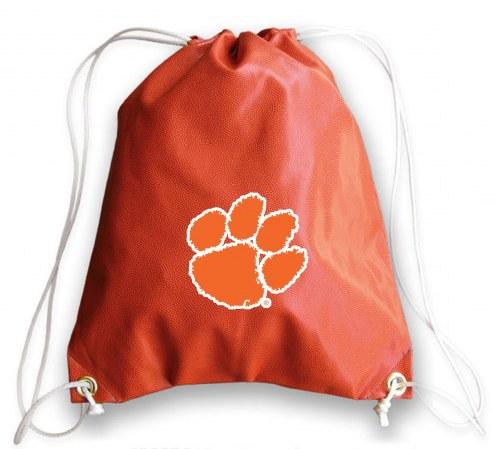 Clemson Tigers Basketball Drawstring Bag