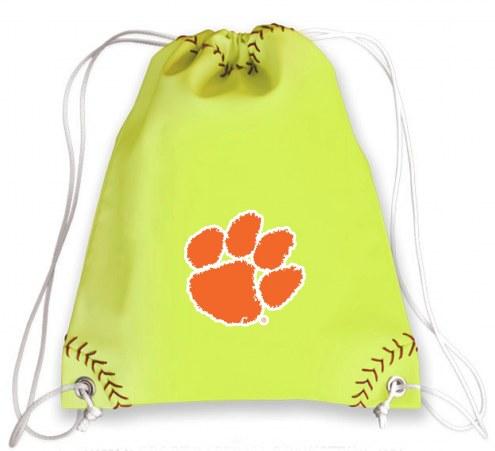 Clemson Tigers Softball Drawstring Bag