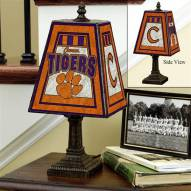 Clemson Tigers NCAA Hand-Painted Art Glass Table Lamp
