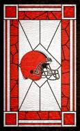 """Cleveland Browns 11"""" x 19"""" Stained Glass Sign"""