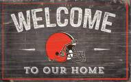 """Cleveland Browns 11"""" x 19"""" Welcome to Our Home Sign"""