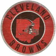 """Cleveland Browns 12"""" Circle with State Sign"""