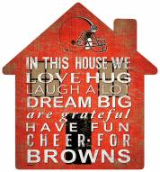 """Cleveland Browns 12"""" House Sign"""