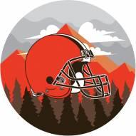 "Cleveland Browns 12"" Landscape Circle Sign"