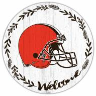 """Cleveland Browns 12"""" Welcome Circle Sign"""