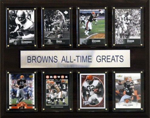 """Cleveland Browns 12"""" x 15"""" All-Time Greats Plaque"""