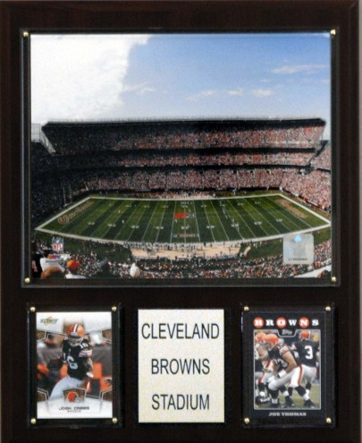 "Cleveland Browns 12"" x 15"" Stadium Plaque"