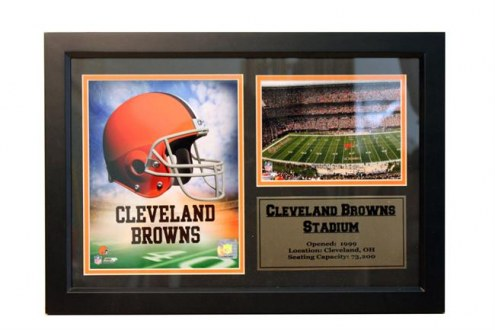 """Cleveland Browns 12"""" x 18"""" Photo Stat Frame"""