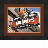 Cleveland Browns 13 x 16 Personalized Framed Sports Pub Print