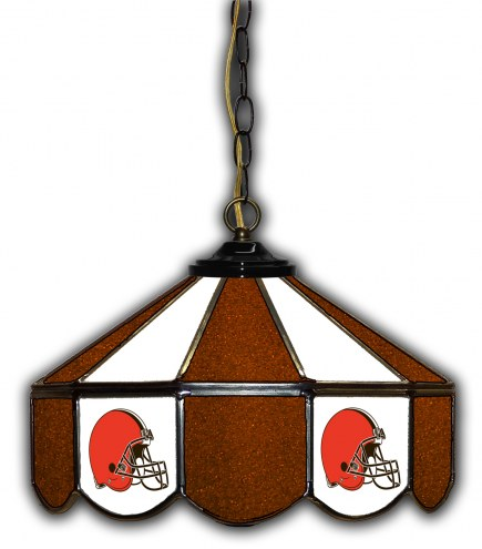 """Cleveland Browns 14"""" Glass Pub Lamp"""
