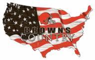 "Cleveland Browns 15"" USA Flag Cutout Sign"