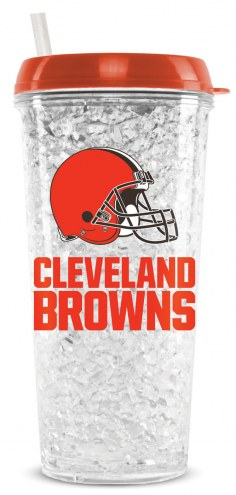 Cleveland Browns 16 oz. Crystal Freezer Travel Tumbler