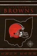 "Cleveland Browns 17"" x 26"" Coordinates Sign"