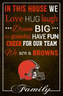 """Cleveland Browns 17"""" x 26"""" In This House Sign"""