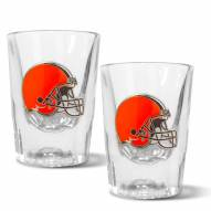 Cleveland Browns 2 oz. Prism Shot Glass Set