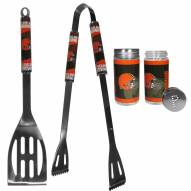Cleveland Browns 2 Piece BBQ Set with Tailgate Salt & Pepper Shakers