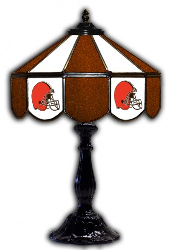 "Cleveland Browns 21"" Glass Table Lamp"