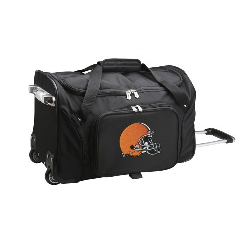"""Cleveland Browns 22"""" Rolling Duffle Bag"""