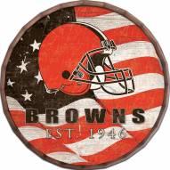 """Cleveland Browns 24"""" Flag Barrel Top"""