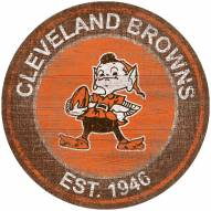 "Cleveland Browns 24"" Heritage Logo Round Sign"