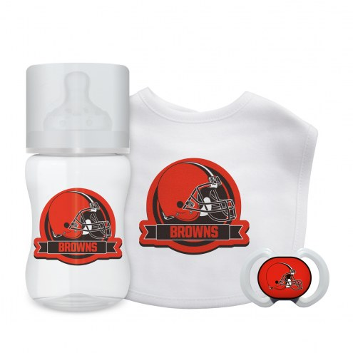 Cleveland Browns 3-Piece Baby Gift Set