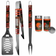 Cleveland Browns 3 Piece Tailgater BBQ Set and Salt and Pepper Shaker Set